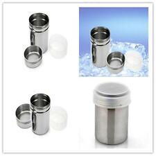 1Salt Pepper Set Spice Sugar Shaker Dispenser Large Heavy Duty StainlessSteel PS