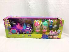 Barbie Video Game Hero Junior Vehicle & two Figure Gift Set