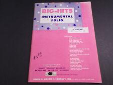 * Big-Hits Instrumental Folio B Clarinet Songbook- Unused