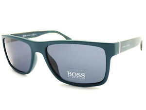 HUGO BOSS Sunglasses Matte Petrol Blue Patterned / Grey 0768/S QOB