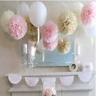 20pcs Xmas Wedding Party's Home Flower Balls Tissue Paper Outdoor Decor Pom Poms