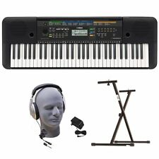 Yamaha PSRE253 Portable Keyboard with Headphones, Power Supply, and Secure Bolt