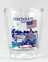 CINCINNATI OHIO GREAT AMERICAN CITIES COLLECTION SHOT GLASS SHOTGLASS
