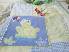 Baby Martex Neutral Nursery Bedding Dragonfly Turtle Frog Pastel Colors 5 Piece