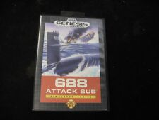 Original Sega Genesis 688 ATTACK SUB Video Game BOX ONLY