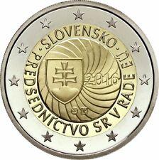2 Euro Commémo Slovaquie-slovensko 2014 - 10ème Anniversaire entrée UE  - UNC