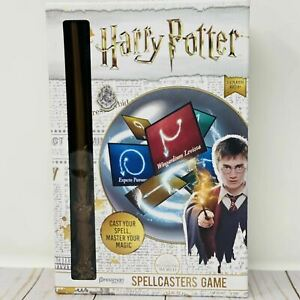 Harry Potter Spellcaster Game,Includes Magical Wand! 3-8 Players Cast Your Spell