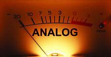 "VU Meter ANALOG RECORDING  sticker decal 4"" X 8"""
