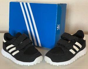 Adidas w/box Original Old School Boy Girl Black w/White stripes Shoes 6K