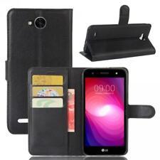 LG X Power 2 Phone Case Cover Wallet Flip Magnet Bag Bumper Sleeve Protect Black