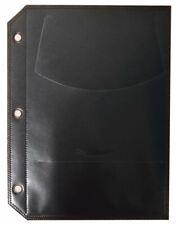 Quality DVD Plastic refill Sleeves Movie Cover Slips Black White Binder HOLES