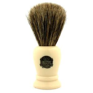 Vulfix #2197 Pure Badger Shaving Brush, Imitation Ivory Handle