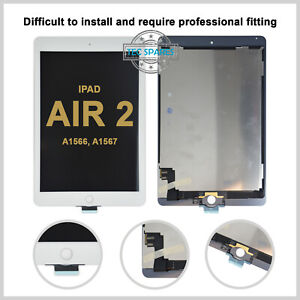 LCD Screen Display Touch Screen Digitizer Assembly For iPad Air 2 A1566 Black