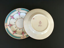 2 Minton China Persian Rose Bread And Butter Plates Older Back Stamp