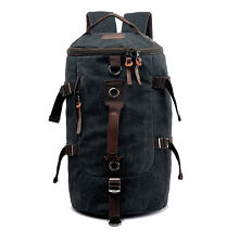 Black Extra Large Heavy Duty Canvas Military Army Duffle Bag Rucksack Backpack
