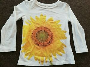 Bright Yellow Flower (like a daffodil) Print Long Sleeve Top Age 4 Year's By Gap