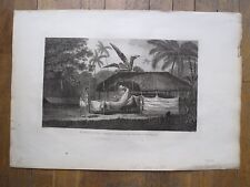 Eau forte,Le corps du chef Tee après sa mort à Tahiti, W. Byrne, d'ap.J.Webber