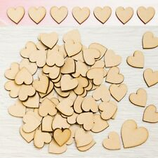 MDF HEARTS 100 x 3cm / 30mm LASER CUT MDF WOODEN SHAPE Arts Crafts Wood Decor