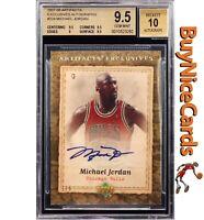 2007-08 Michael Jordan Upper Deck Artifacts Exclusives Auto /5 BGS 9.5 / 10