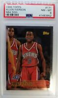 1996-97 Topps NBA at 50 Allen Iverson Rookie RC #171, PSA 8, Low Pop 65 Only 62^