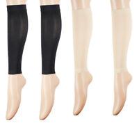 Women Compression Varicose Vein Stockings Knee High Open Toe Toeless Calf Socks