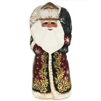 Santa Claus Figurine Wooden Russian Hand Painted Carved Father Frost Christmas