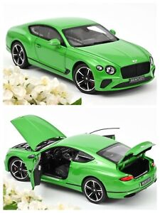 1/18 Norev Bentley Continental GT 2018 Vert Neuf En Boîte Livraison Domicile
