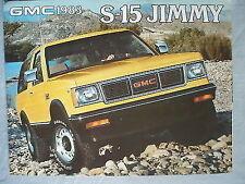 GMC S-15 Jimmy brochure 1983 Canadian market