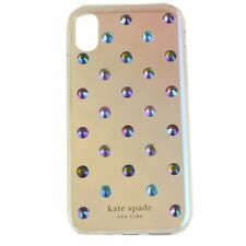 NEW Kate Spade New Ombre Lia Dot Rainbow Crystals Studded iPhone XS/X Case