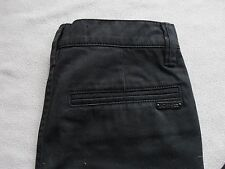 JOES JEANS BOYS SOLID BLACK SLIM STRAIGHT LEG COTTON PANTS SIZE 10 NEW *SAMPLE*