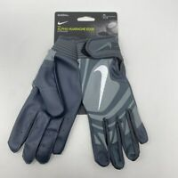 NWT Nike Alpha Huarache Edge Batting Gloves Medium Gray Baseball Softball Adult