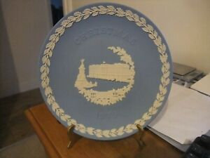 A Stunning Wedgwood Blue Jasperware Christmas Plate 1979
