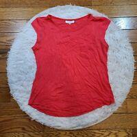 Calvin Klein Women's Hot Pink Cap Sleeve Pocket Top Size Medium M