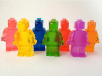 Flexible Silicone Lego Man ice mold & chocolate mold Jello Maker Jelly mould