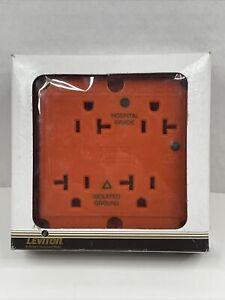 Leviton 8490-IG 20 Amp 125 Volt 4-in-1 Surge Protector Receptacle Hospital Grade
