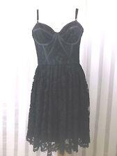 Jill Stuart Lace Bustier Top Dress Black size 8 ad full skirt  NWT burning man