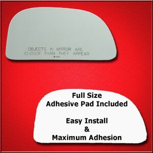 Mirror Glass Replacement + Full Adhesive For Colt, Eagle Summit Passenger Side