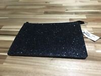 BNWT Large Black Clutch Bag. Rrp $35.Sold Out. Glistening shiny. Gold zip