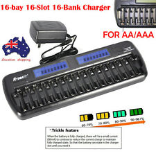 Smart Battery Charger 16 Slots LCD Intellicharge for NiMH NiCd AA AAA Universal