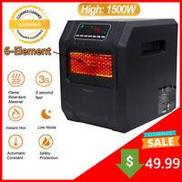 Clearance! Portable Electric Heat Fan Space Heater 6 Quartz w/ Remote Control US