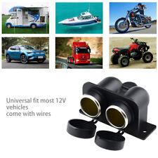 Waterproof Power Dual Socket Car Motorcycle Cigarette Lighter Plug 12V Outlet