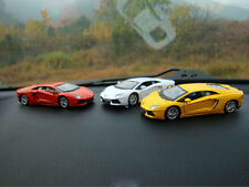 1:36 White Lamborghini Car Model Built-in Air Freshener Child Toys Innerspring
