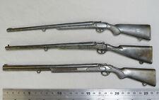 3 Antique Vintage Cast metal Model Rifles Shotguns