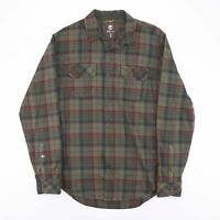 Vintage TIMBERLAND Green Casual Checked Cotton Shirt Men's Size Medium