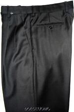 NEW $695 men INCOTEX VENEZIA DRESS PANTS 30 W SUPER 100's SARTORIALE BLACK PLEAT