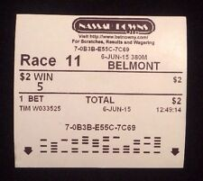 $2 WIN TICKET AMERICAN PHAROAH 2015 BELMONT STAKES Triple Crown Uncashed