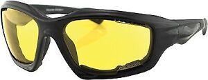 Desperado Sunglasses Bobster Eyewear Black/Yellow Lens EDES001Y