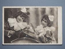 R&L Postcard: Music Hath Charms, Children Entertainers 1910, Hildesheimer