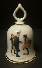 1979 Norman Rockwell First Dance Ceramic Bell - Danbury Mint