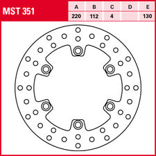 TRW Disco Freno Trasero MST351 con ABE